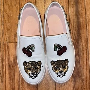 Kate Spade embellished Lizbeth slip on sneakers